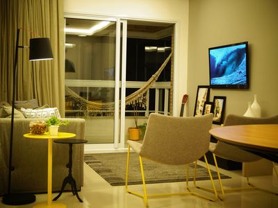 Photo for High standard apartment in club condominium, 2 qtos / 4 people