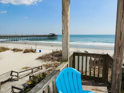 Photo for Against The Wind A, Oceanfront home, Amazing Pier View, Duplex