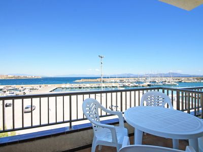 Photo for Meritxell: Front line apartment with marina view