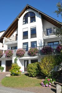 Photo for Comfortable apartment in the vineyards with a magnificent Rhine and castle views