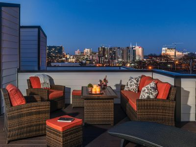 Photo for 3BR/3.5BA w/ Rooftop Deck & Unobstructed Skyline View - 2 Miles to  Downtown