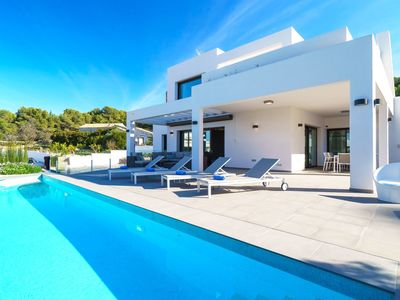 Photo for Beautiful private villa for 8 guests with private pool, WIFI, A/C, TV and parking