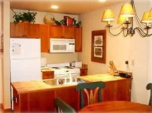 Living room, gas fireplace, kitchen fully equipped, Cabinet with TV & VCR.