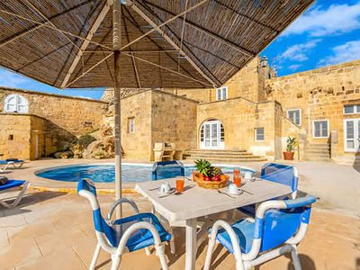 Photo for Farmhouse villa with great views and design, a pool and Wi-Fi, close to capital
