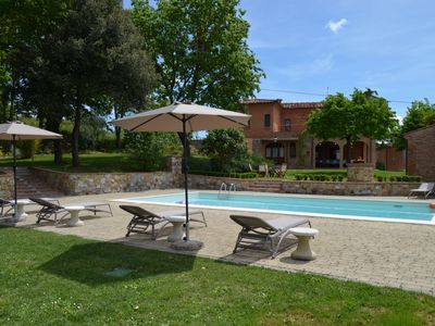 Photo for Country estate in a beautiful location 18-22 people, private pool and jacuzzi, common room, pizza oven, boccia court, the perfect holiday with friends and family, plenty of space for children and complete fencing for pets.