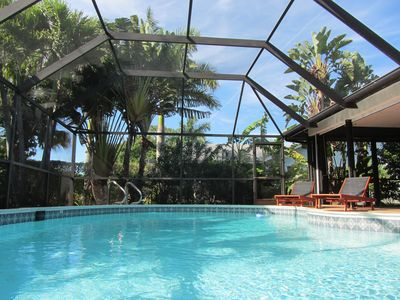 Photo for Beautiful pool-home with tropical garden in Naples,  Kings Lake