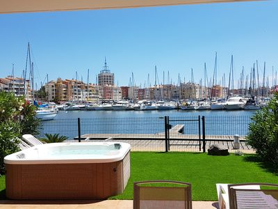 Photo for MAGNIFICENT MARINA CENTER PORT CAP AGDE 138M2 AIR CONDITIONED WITH PONTOON, SPA, WIFI