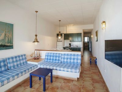Photo for Three-Bedroom Apartment with Side Sea View located 50m from the beach.