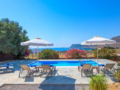 Photo for Villa Aqua Oceanis - lovely villa with pool, Wi-Fi, A/C, games and sublime views