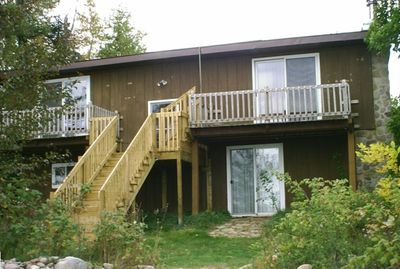 View of back of house, facing Lake Superior