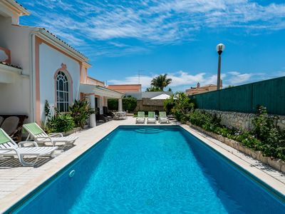 Photo for Beautiful villa with garden and swimming pool nearby the STRIP and beach