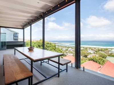 Photo for Beachtown villa with breathtaking view