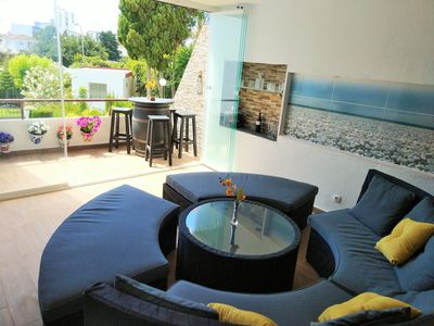 Photo for Great flat near Puerto Marina, pool & tennis court