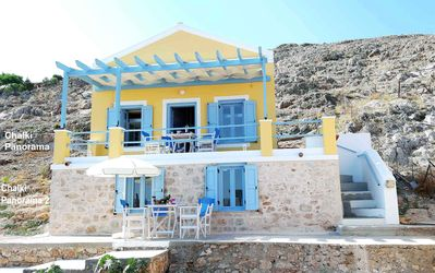 Photo for Chalki Panorama, a traditional island home with an amazing island's view!