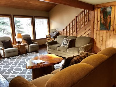 Photo for HIGHLY RATED AND UPDATED HOME W/PRIVATE HOT TUB ,6 SHARC PASSES,BIKES,AIR HOCKEY