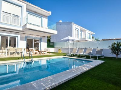 Photo for Port d'Alcudia Holiday Home, Sleeps 6 with Pool, Air Con and Free WiFi