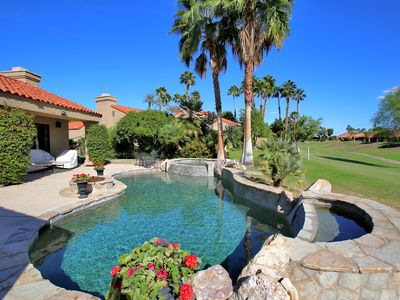 Brand new, private pebble tec pool w/ spa and waterfall features
