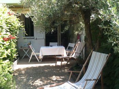 Photo for Charming Garden apartment on the golf of La Grande Motte