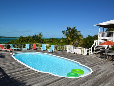 Photo for An estate in paradise; facing the ocean w/ a private pool, near Tahiti Beach!