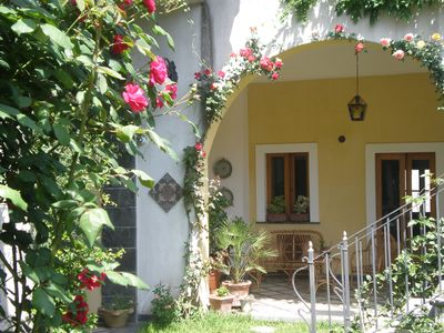 Photo for TAORMINA - ETNA  -   GUEST HOUSE  IN VILLA  LIBERTY 2/7 PEOPLE in the HEART of RIPOSTO,  with PRIVATE GARDEN  - 150MT from THE SEA and 200MT from ETNA TOURIST PORT