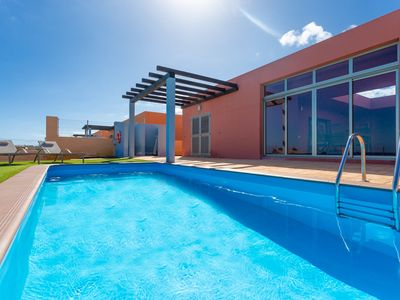 Photo for Villa Tahiche: Large Heated Private Pool, Sea Views, WiFi