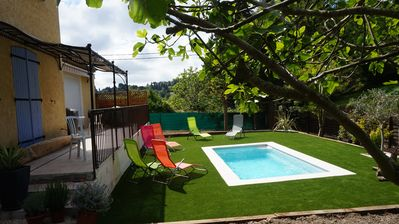 Photo for Beautiful Villa 130m2, private pool in Mougins!