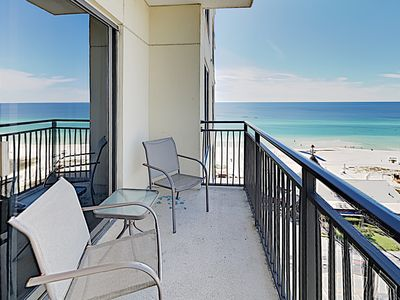 Balcony - Welcome to your Panama City Beach condo! Professionally managed by TurnKey Vacation Rentals.