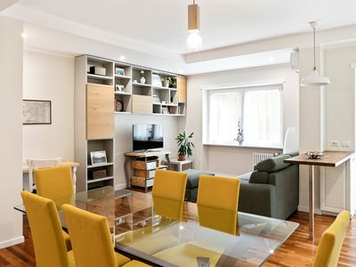 Photo for Modern and bright 2bed flat 15min from Colosseum