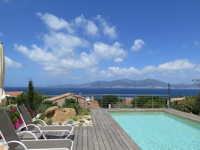 Photo for New 120m2 villa in a quiet residential villa with view of the Ajaccio golf