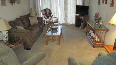 New living room furniture and new carpet throughout condo in 2015.