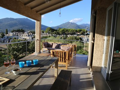 Photo for Villa with panoramic views of the golf Valinco near beach and center