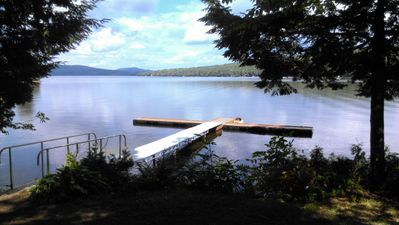 Photo for Water front cabin units on Beautiful Embden Pond
