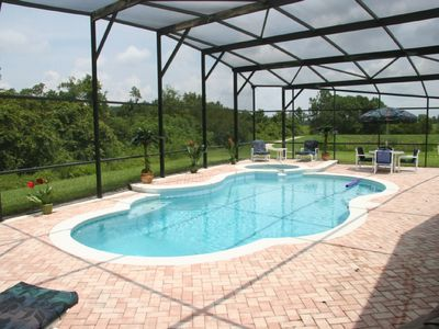 Photo for Beautiful 4Bed/3 bath House- 3miles Disney large pool/spa on XL deck, Free WiFi
