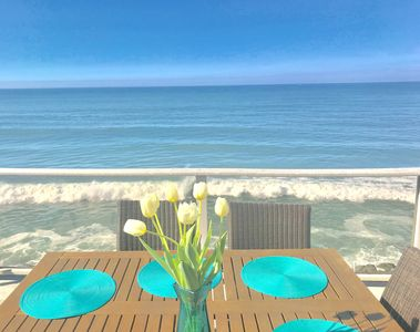 Photo for Sandcastle Oceanfront Vacation Home, Private Backyard Beach with Bon Fire Ring,