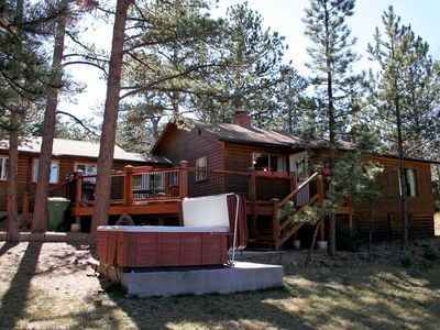 Photo for Mountain Pine Cabin with Personal Hot Tub - Dog-Friendly!
