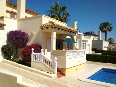 Photo for Villa with own Pool on Las Ramblas golf course with air con/heating