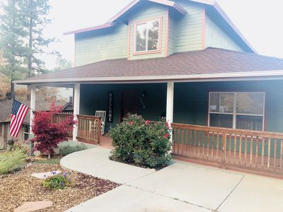 Photo for Beautiful mountain home nestled in the pines- WiFi, trails, downtown & much more