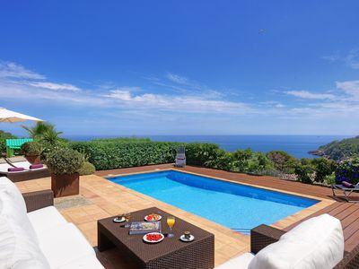Photo for ES RACO-villa with sea views-Sa Riera-Costa Brava