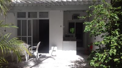 Photo for 2 bedroom apartment, type house with garden and barbecue in Ipanema