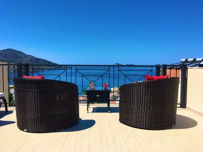 Photo for 3 Bedroom, 4 Bath Villa In Kalkan Old Town. Private Pool & Stunning Sea Views