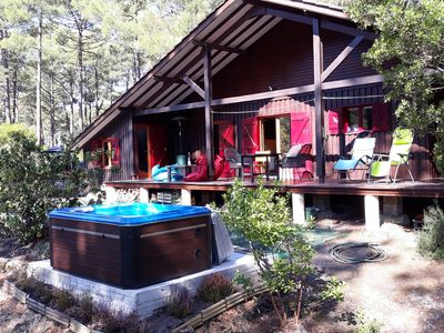Photo for Chalet 80m2 with PRIVATE JACUZZI, TERRACE FULL SOUTH 40m2,
