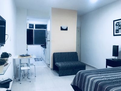 Photo for Studio in the best point of Copacabana, facing, access to everything walking