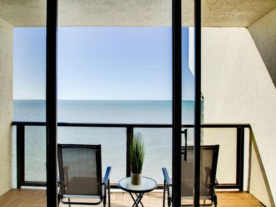 Balcony overlooking the Gulf of Mexico