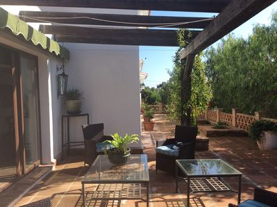 Patio outside the kitchen