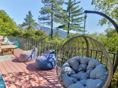 Photo for Gorgeous mountain view home w/ a large furnished deck & private gas grill!