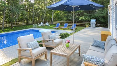 Photo for New Listing: Designer Home in Bridgehampton w/ Heated Saltwater Pool, Nature Preserve Setting
