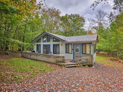 Photo for NEW-Creekside Poconos Cabin w/Deck Near State Park