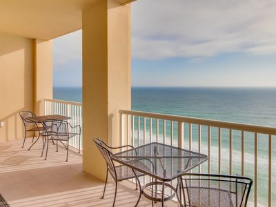 Photo for Oceanfront condo with a balcony, shared pool & hot tub, easy beach access