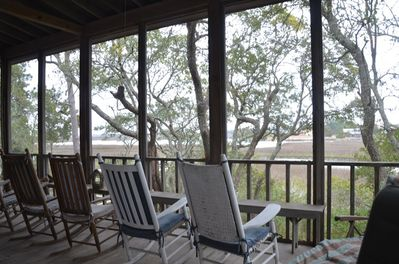 Porch with creek view