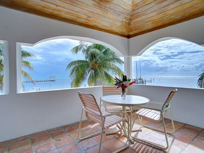 Photo for Ocean Front Condo, fabulous view, near town, shared pool, housekeeping
